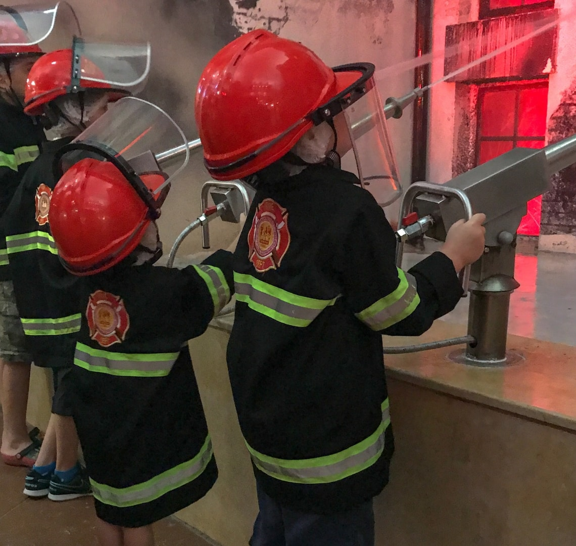 "11 incredible things to do in Qatar - the Things ""putting out a fire"" at Kidzmondo"