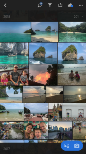 Best Travel Apps - screenshot of Lightroom