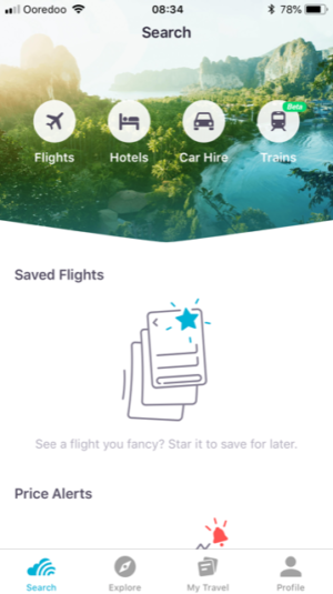 Best Travel Apps - screenshot of Skyscanner