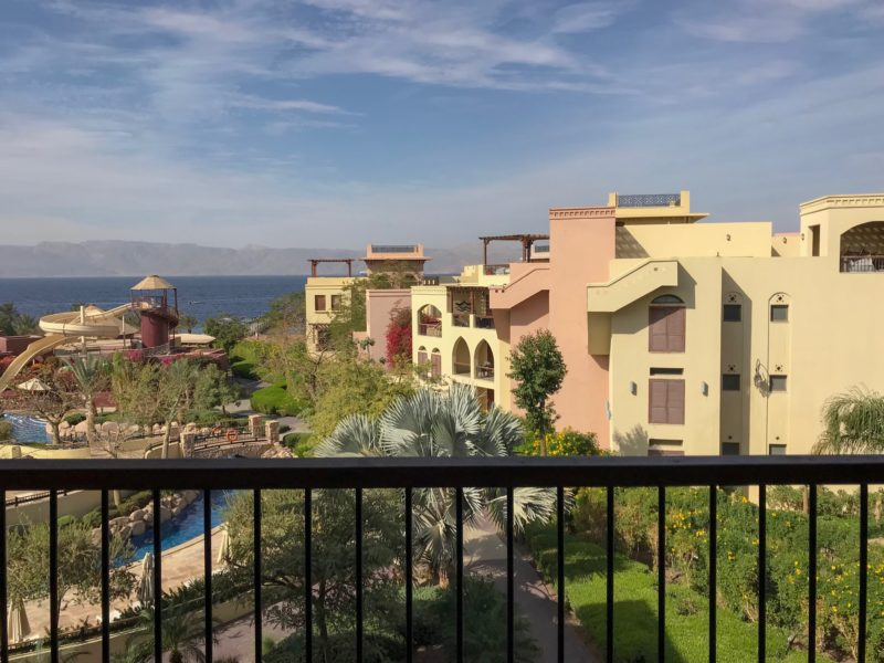 7 Things We Loved About Jordan - Views across Tala Bay and the Red Sea from our room in Aqaba