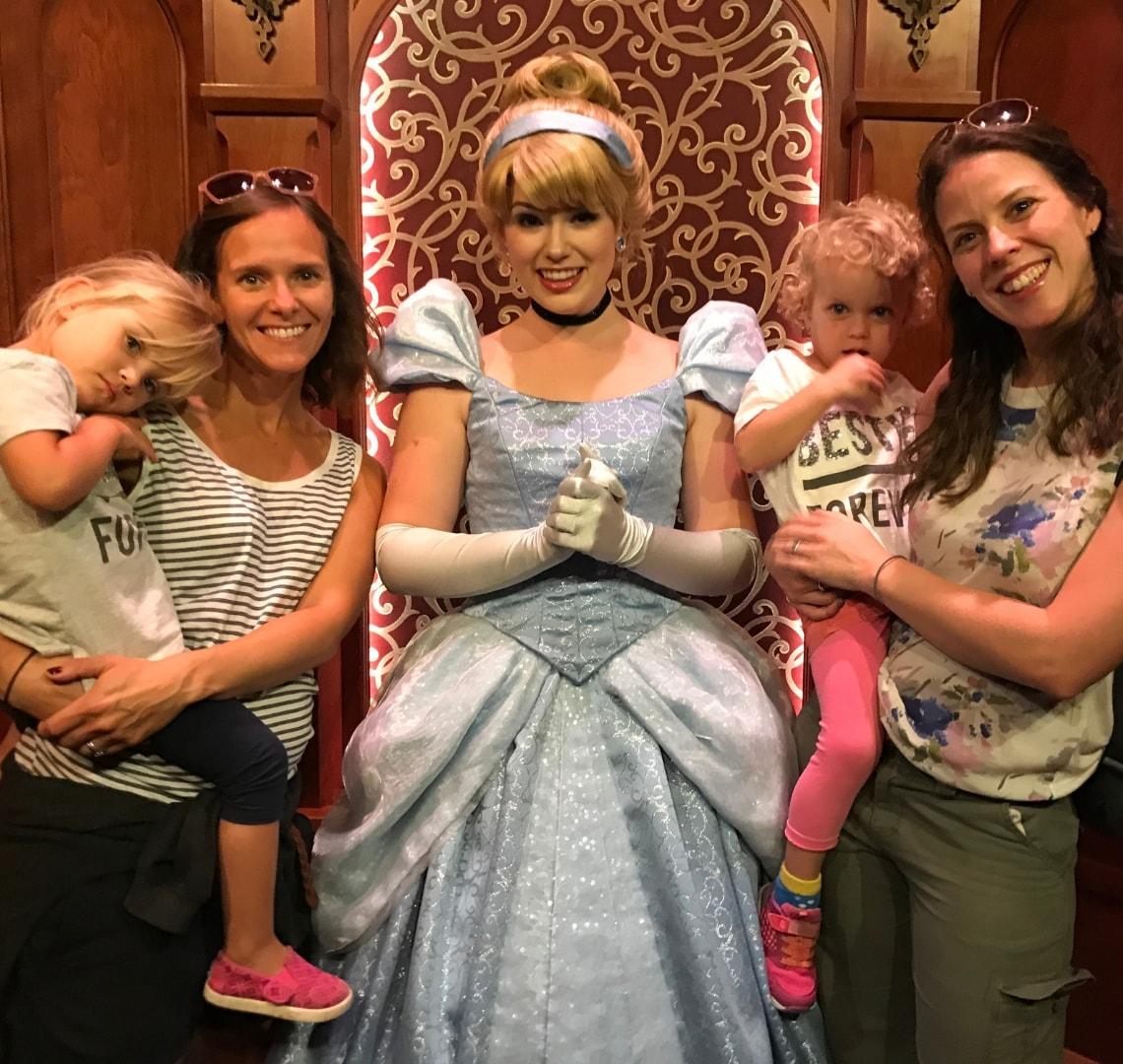 Disney - Cousin Wanderlust, SIL Wanderlust, Cinderella, Thing 2 and me