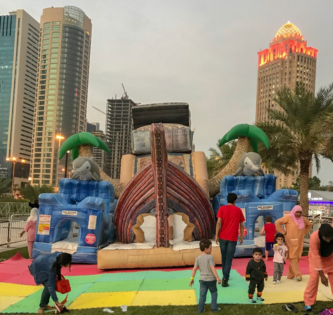 the pirate themed bouncy castle | Things to do in Doha | Explore your town - find adventure every day