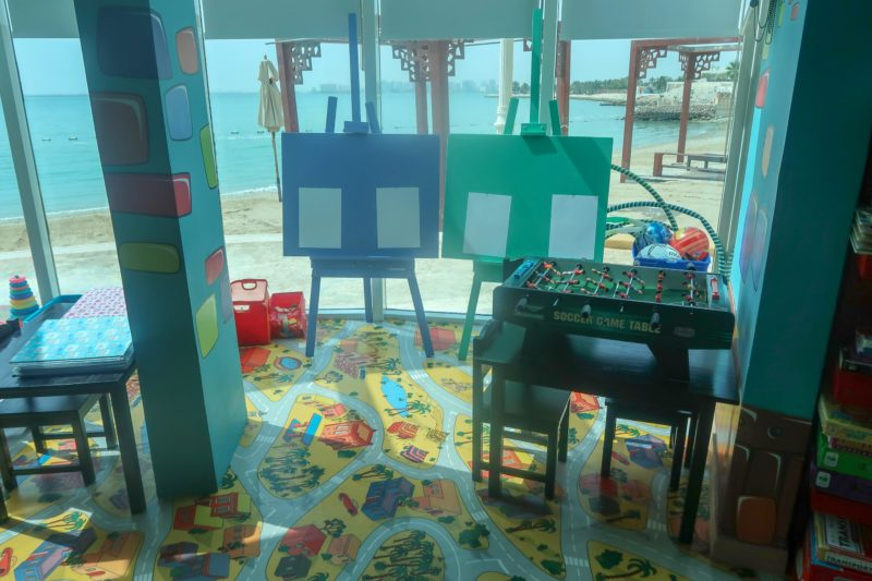 Four Seasons Doha - kids club with a view of the beach