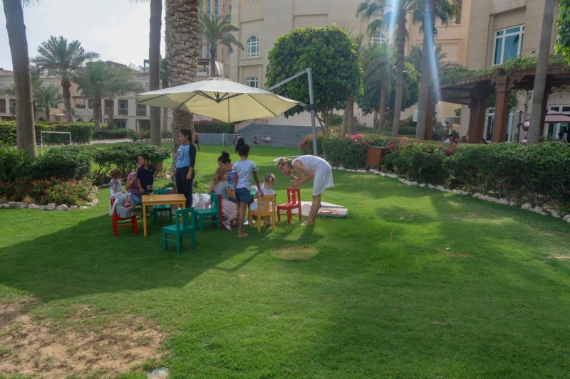Four Seasons Doha - outdoor Kids Club on the lawns of the Four Seasons Doha