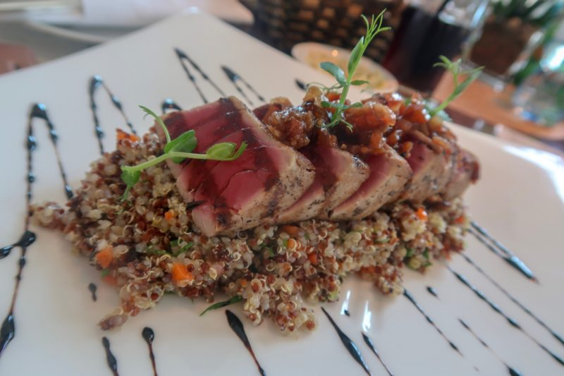 Four Seasons Doha - rare tuna and quinoa salad available from the Apres Spa Cafe
