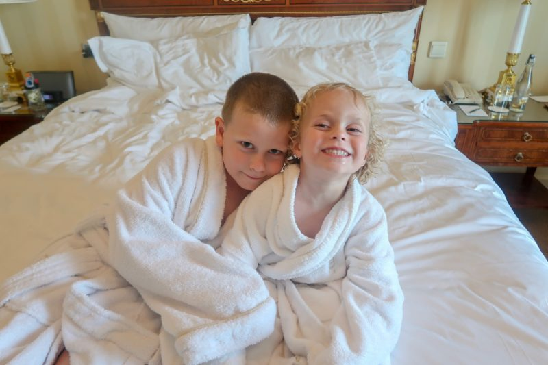 Four Seasons Doha - The Things in their perfectly sized mini bathrobes