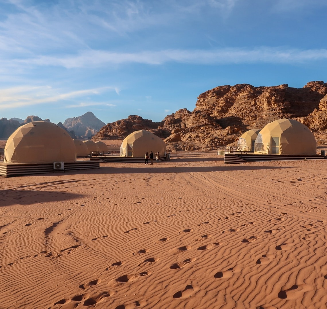 How to have an epic family holiday - martian dome tents in Wadi Rum