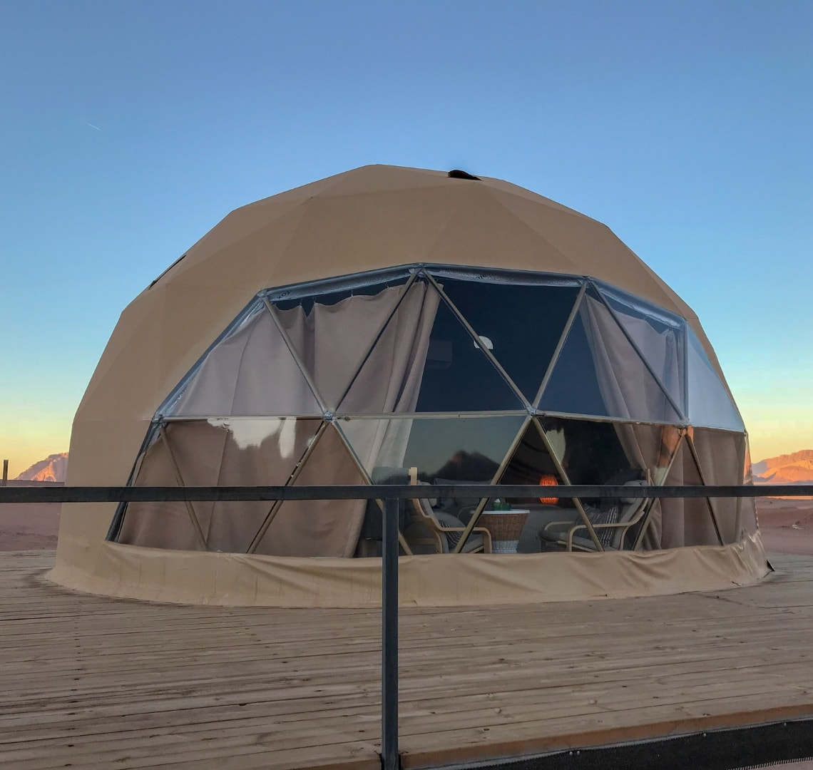 How to have an epic family holiday - martian dome tent in Wadi Rum