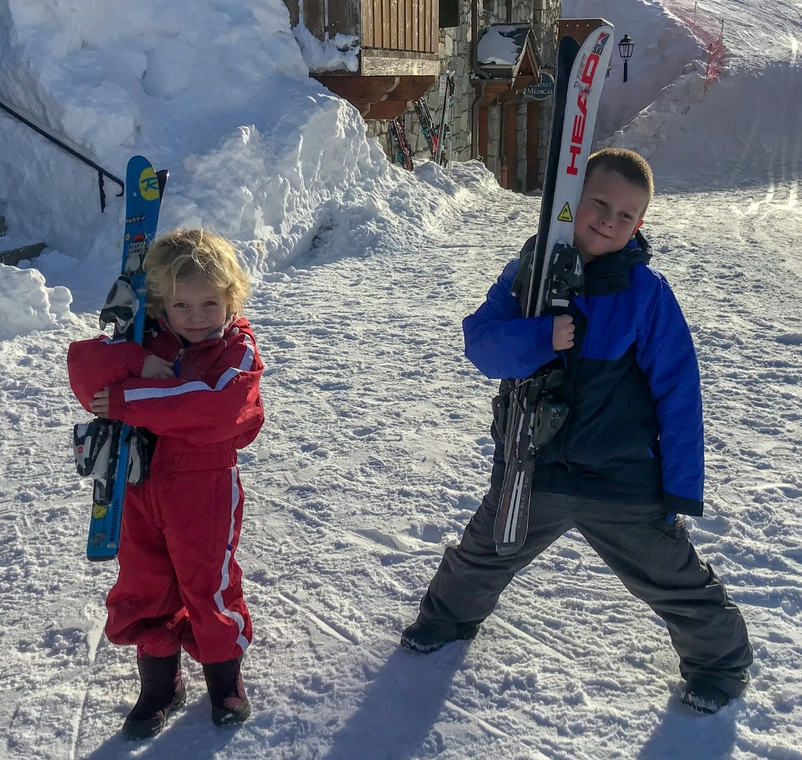 How to have an epic family holiday - the Things carrying skis