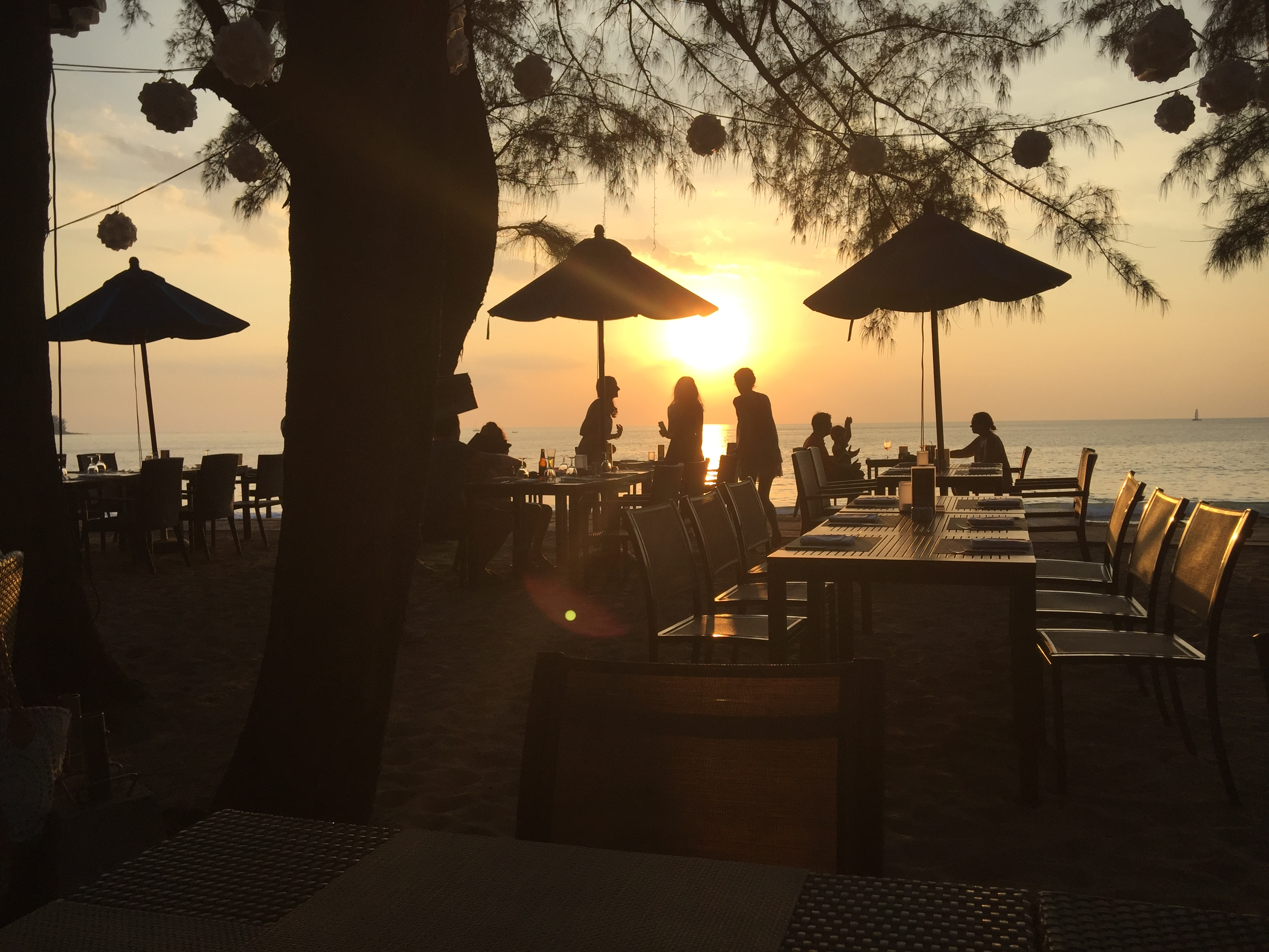 Sunset shot from a beach in Phuket