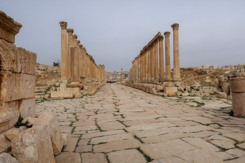7 Things We Loved About Jordan - The colonnaded street in Jerash
