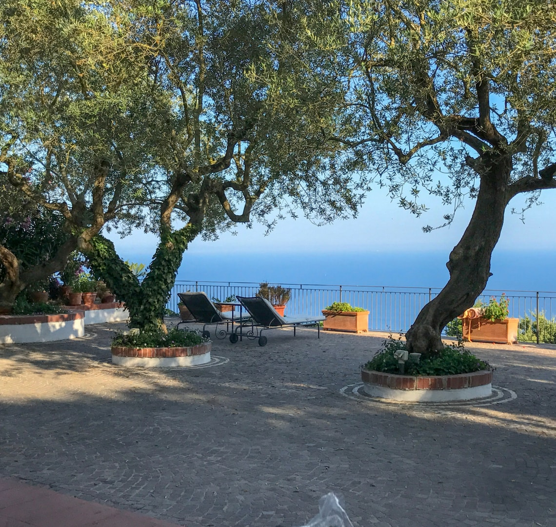 Last minute - view of the sea from our Amalfi coast villa