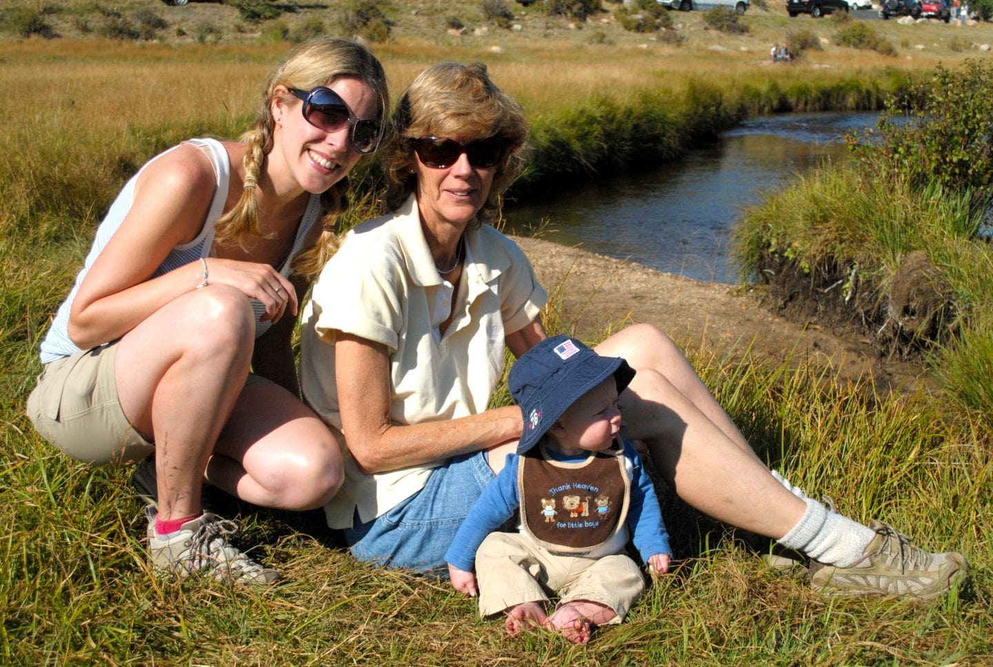 Lessons learned from travelling with kids - me, Granny Wanderlust and baby Thing 1 in Colorado