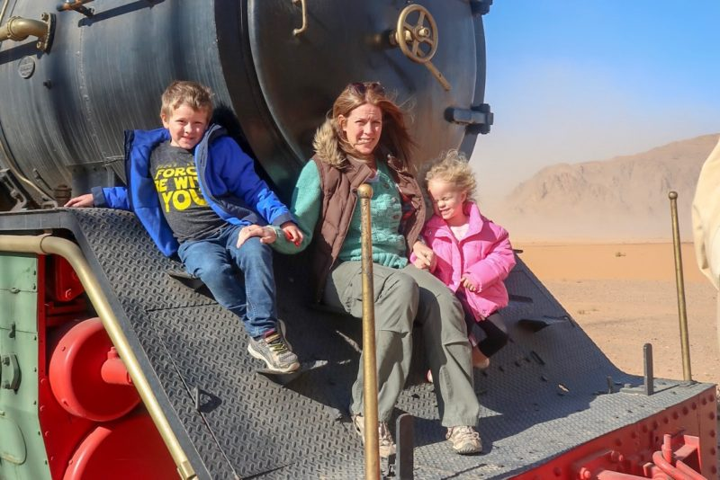 I gave up my career for this - Me and the Things on a train in Wadi Rum