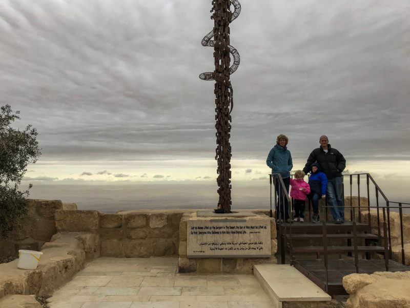 7 Things We Loved About Jordan - Mr and Granny Wanderlust with the Things in front of Moses' Staff, Mount Nebo