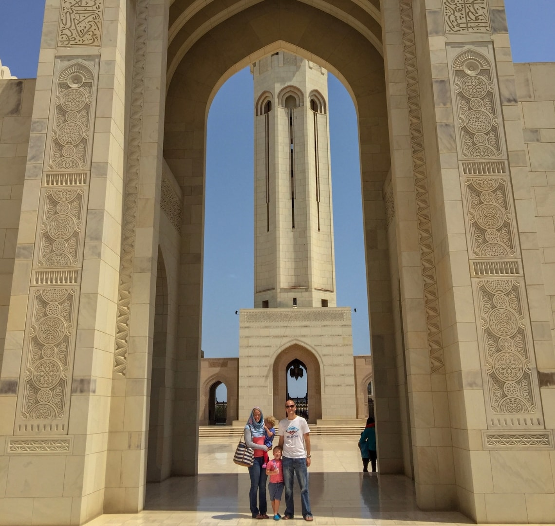 Muscat - Wanderlust family at the Grand Mosque