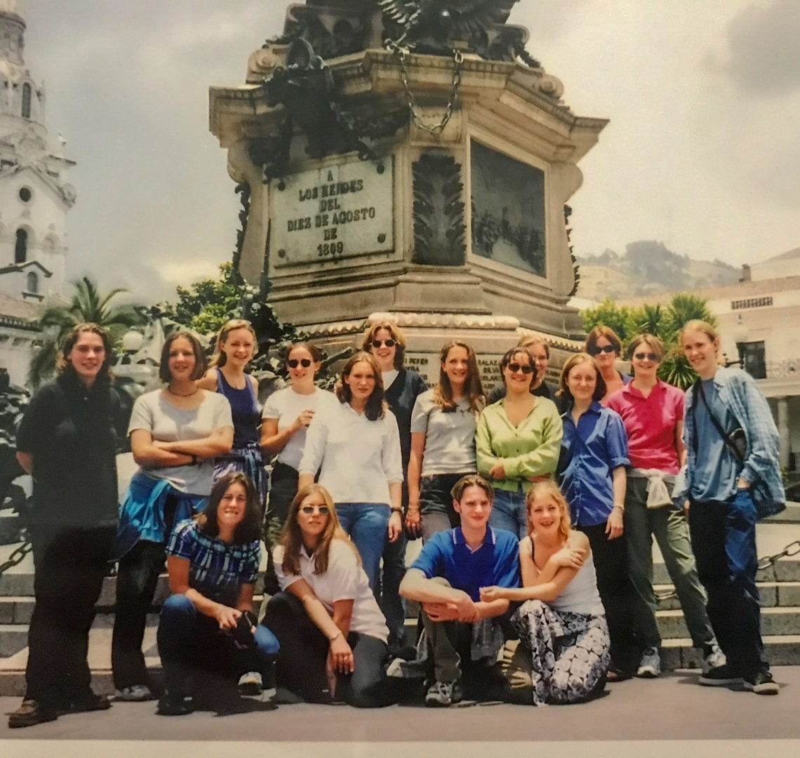 People Who Changed My Life Through Travel - our entire gap year group in Quito Old Town