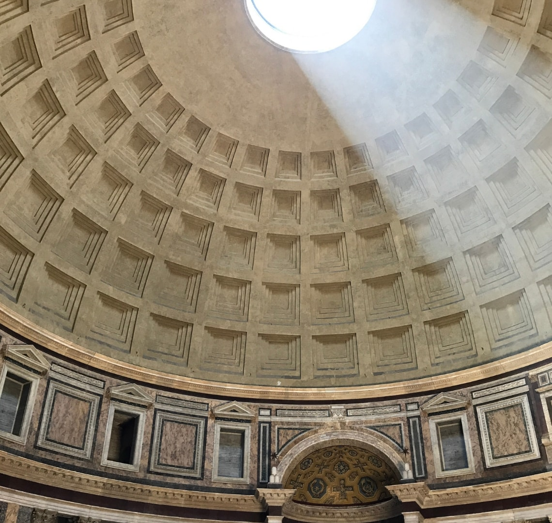 Rome - view to the skylight in the roof of the Pantheon