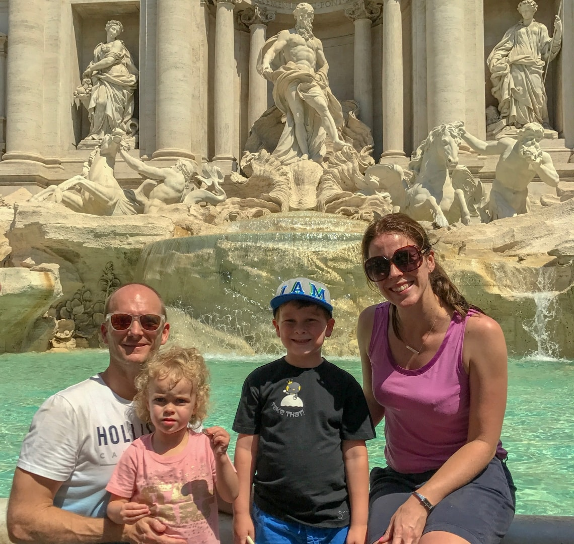 Rome - Wanderlust family by the Trevi fountain