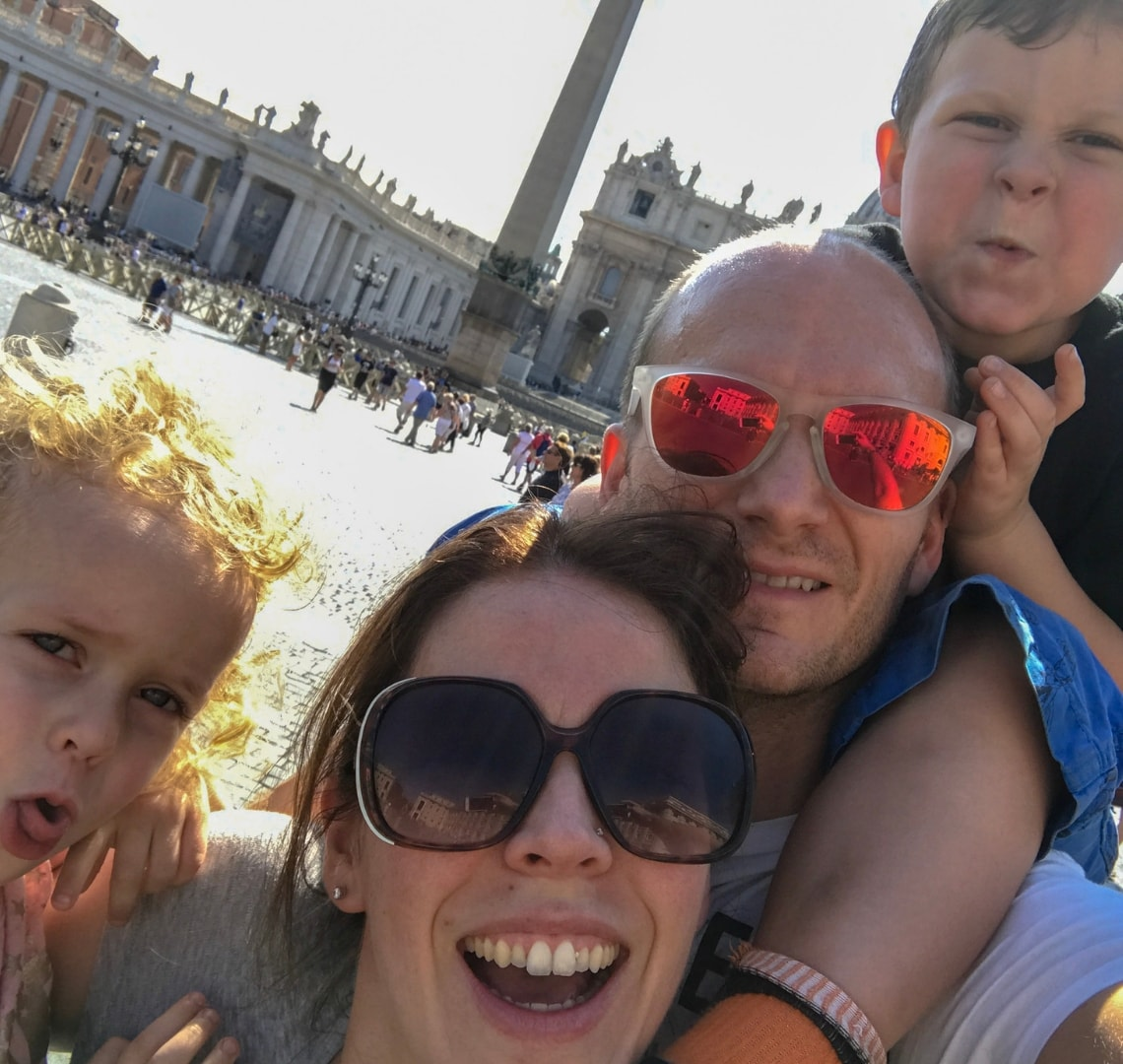 Rome - Wanderlust family selfie in St Mark's Square