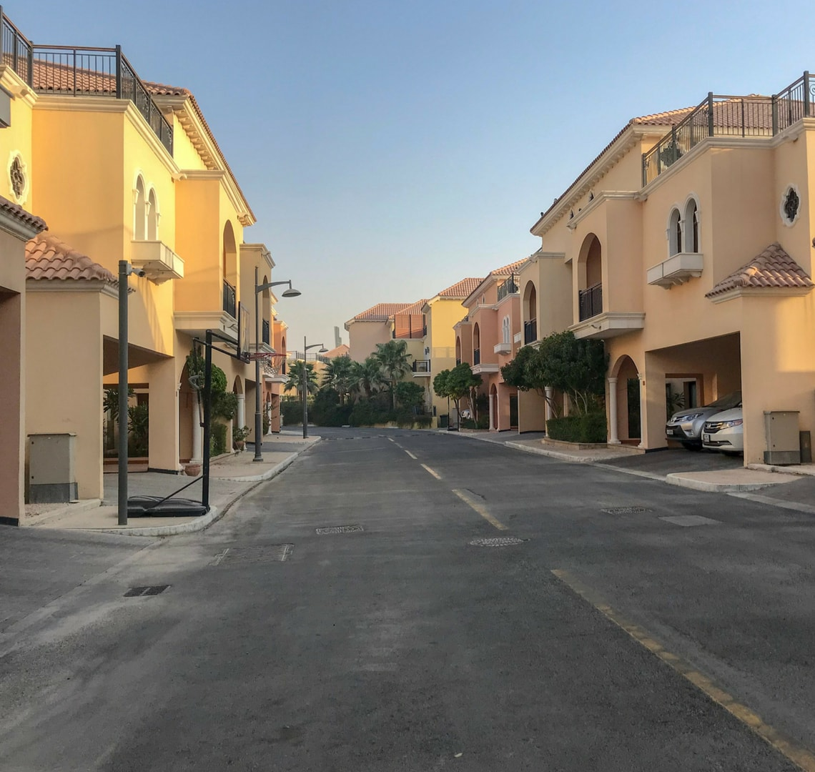 Our street with no people on it (or in the houses either!)