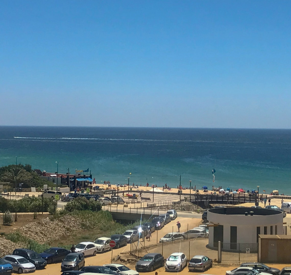 Super fun things to do in Lagos - view of Porto de Los beach from our villa