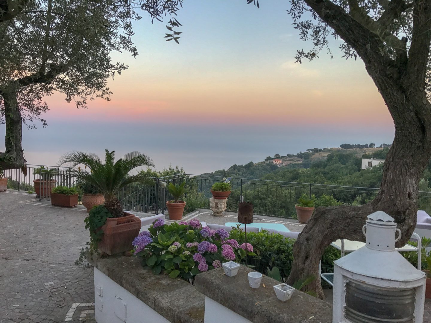 Throw away the bucket list - view from villa Amalfi coast