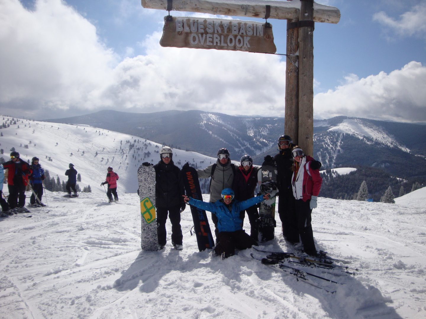 Why I wont say goodbye - photo of us with our 'urban family' while skiing together