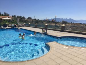 A villa with a pool and some family was a winner