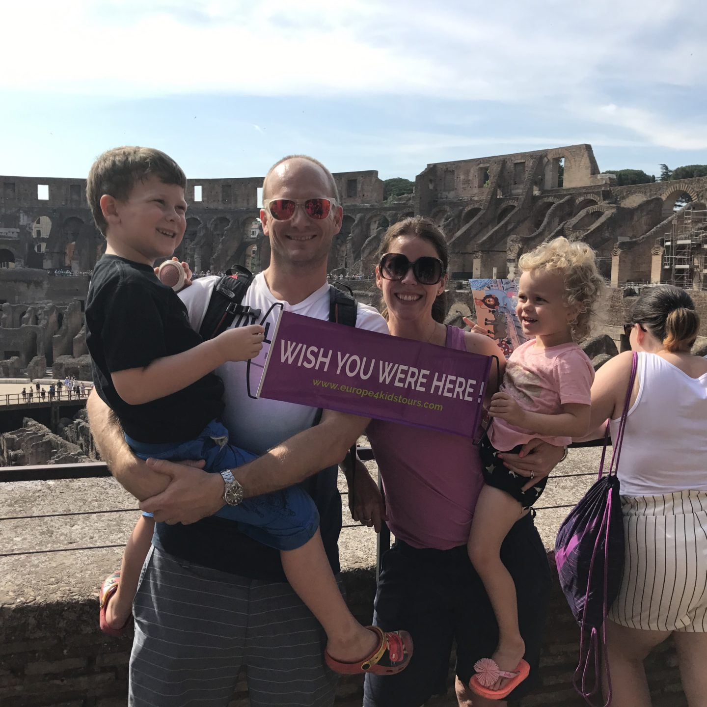 How to have an epic family holiday - the wanderlust family in the Coliseum in Rome