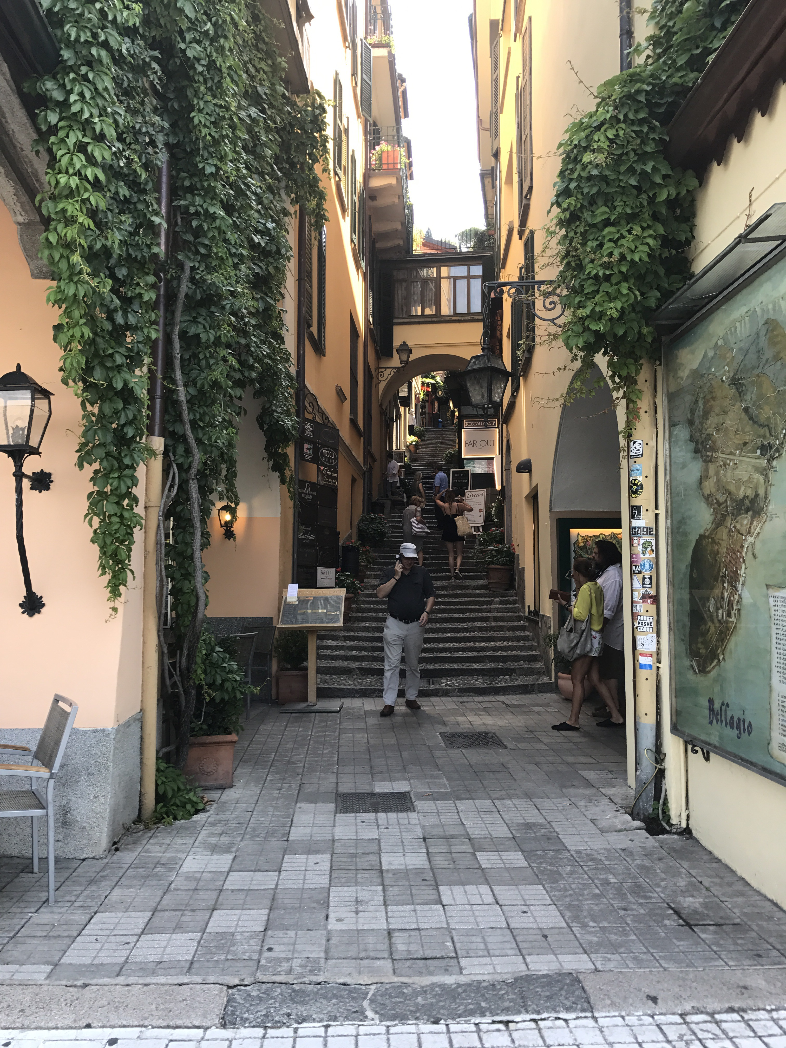 The beautiful streets of Belaggio