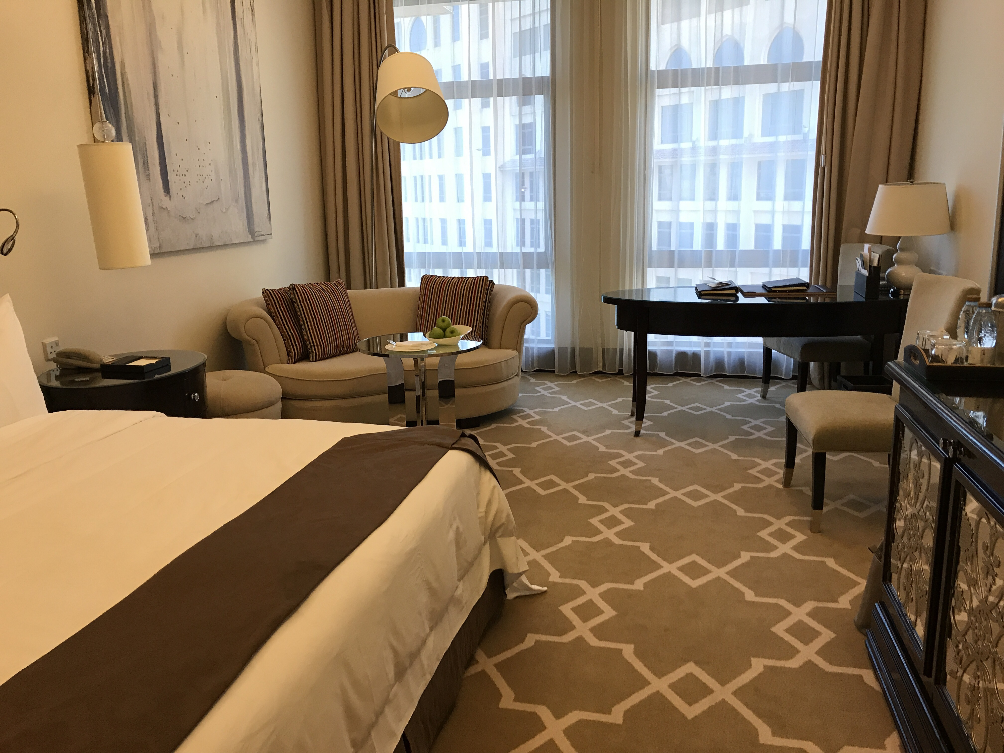 Adjoining rooms or suites are the best options if you can get them
