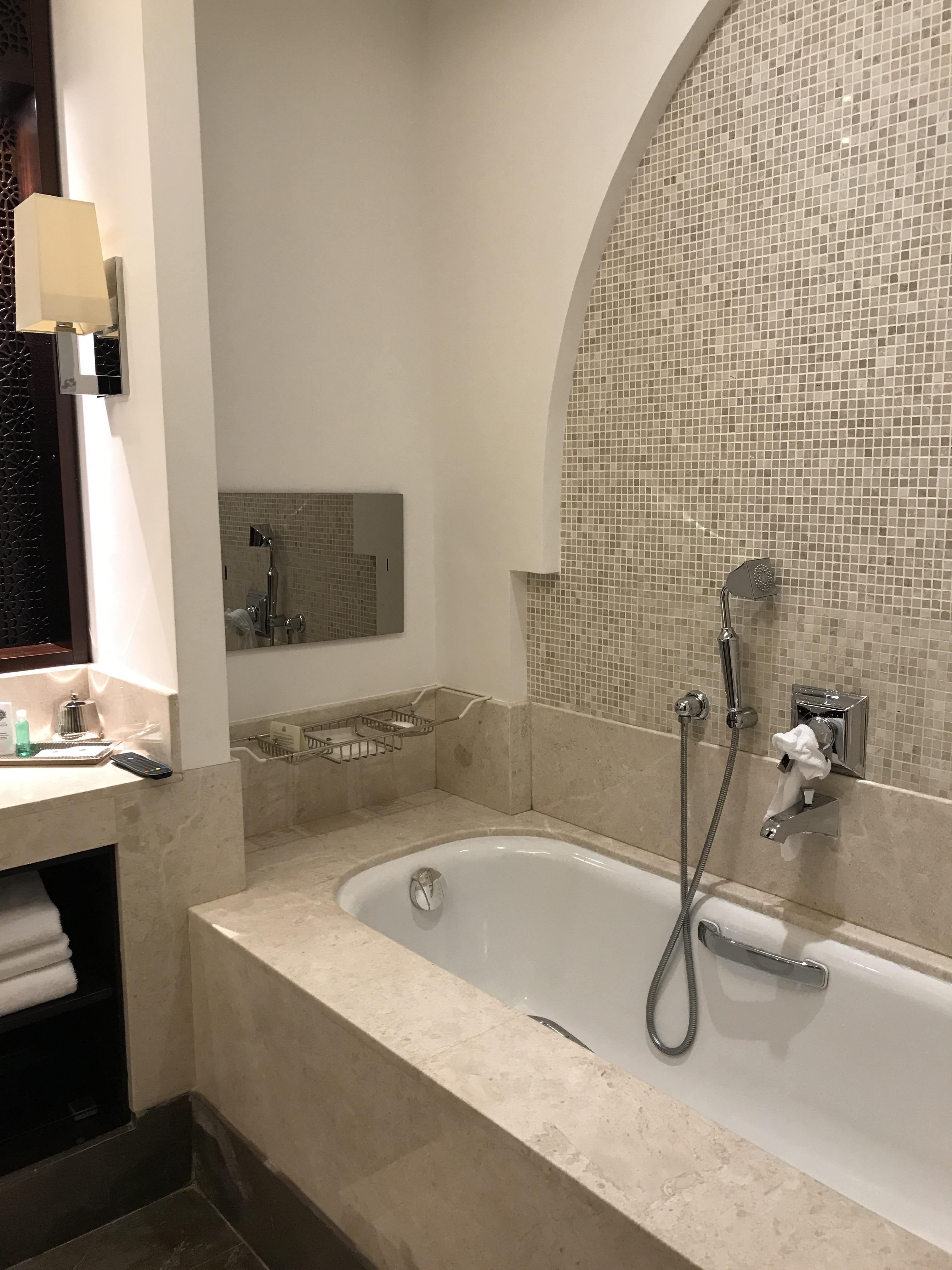 Bathroom with a TV!