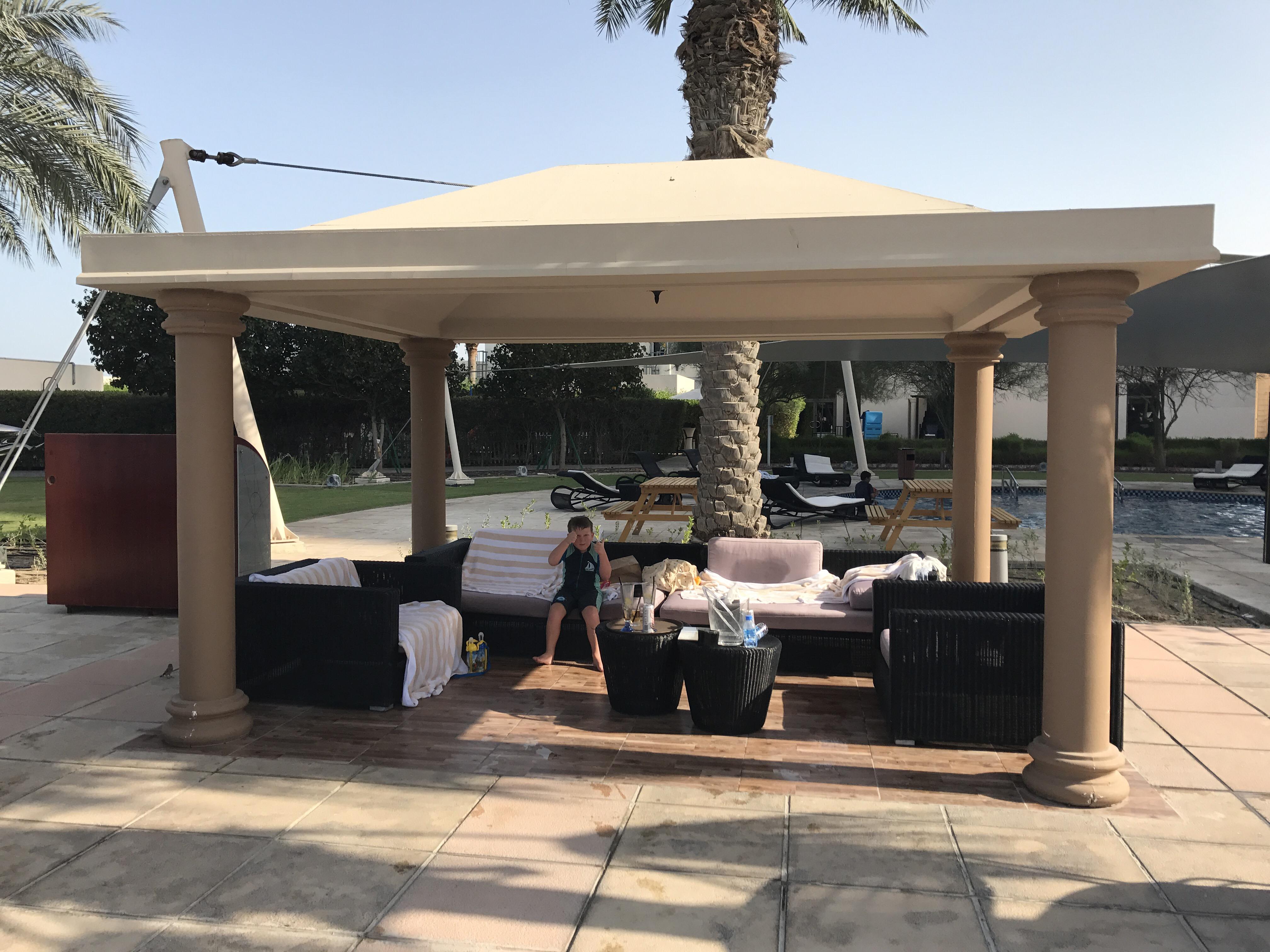 Shaded cabana
