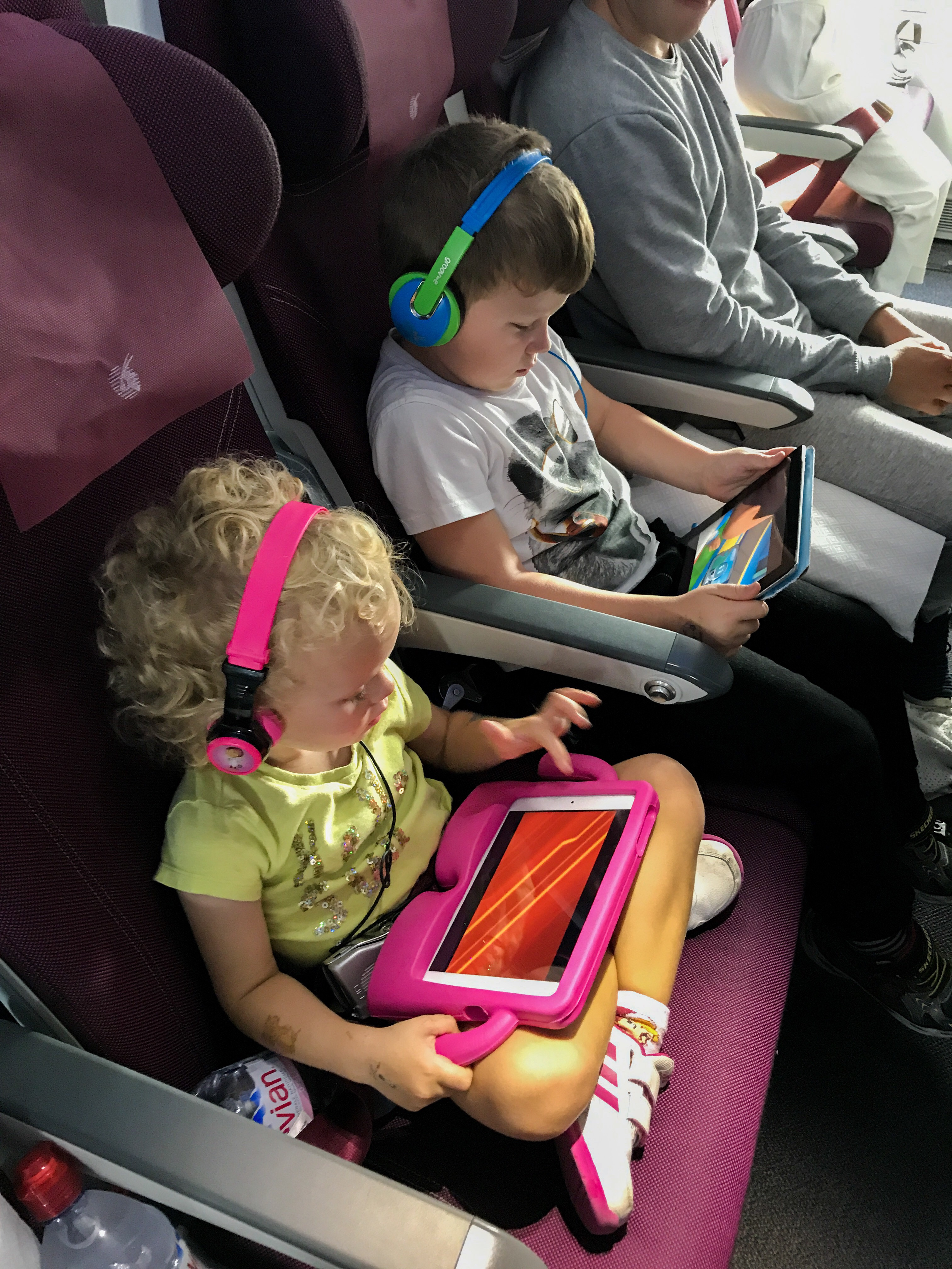 The Things watching iPads on a plane