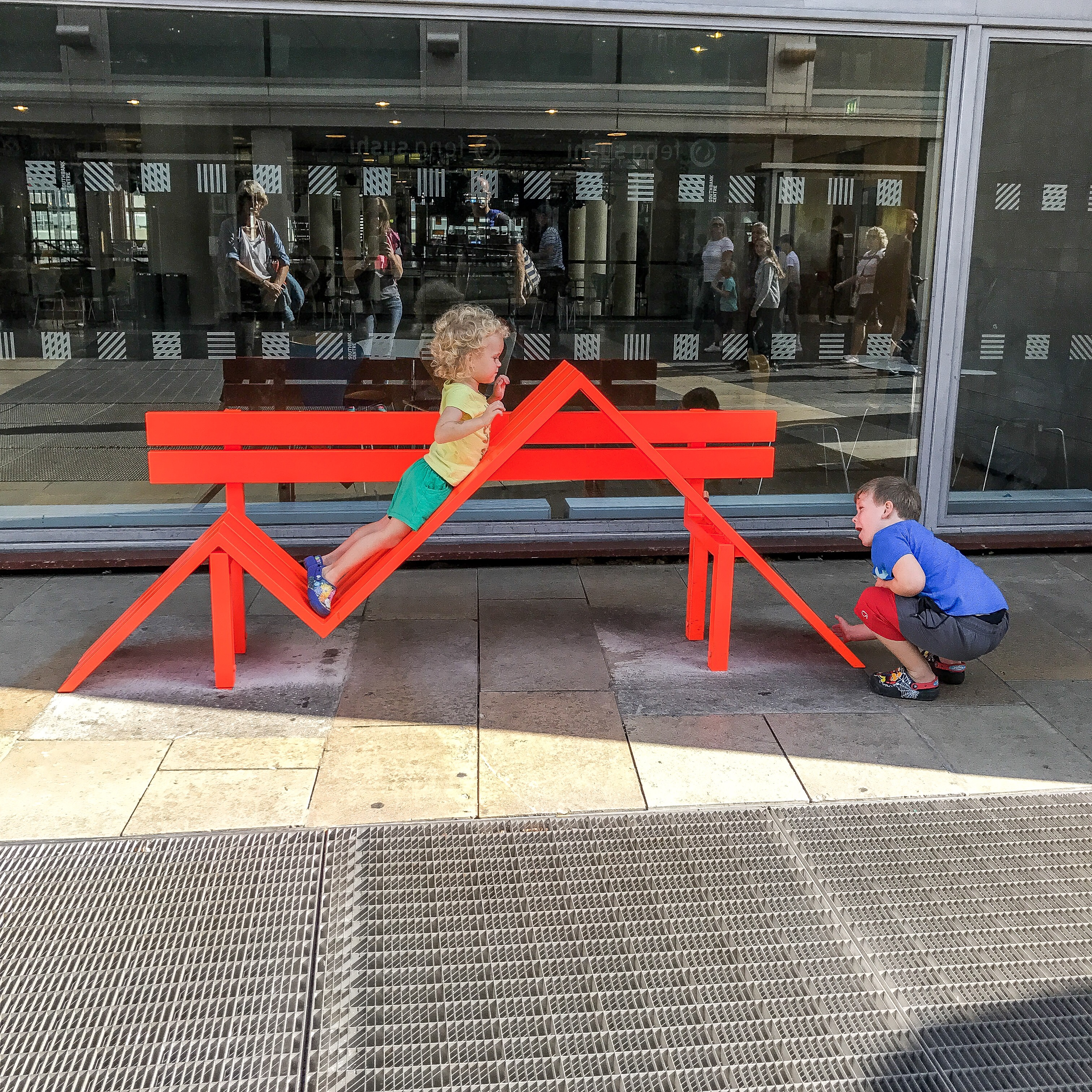 Crazy Bench Installation