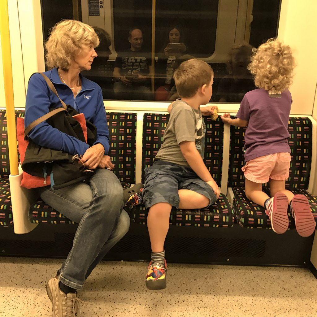 Granny Wanderlust on the London Underground with the Things - trip of a lifetime
