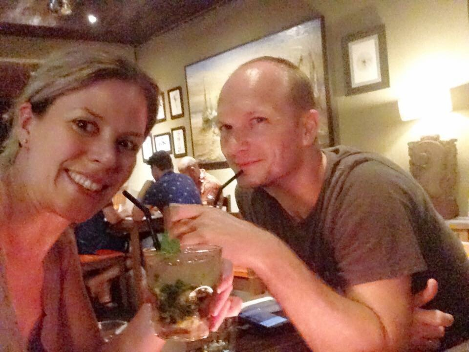 We make time for date night even on holiday!