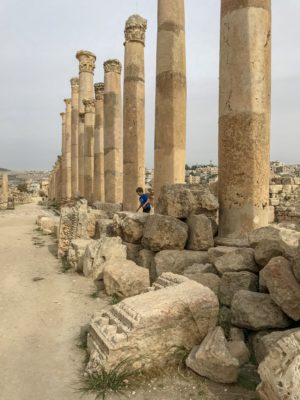 Jordan Adventures Part I - Amman. Thing 1 exploring Jerash