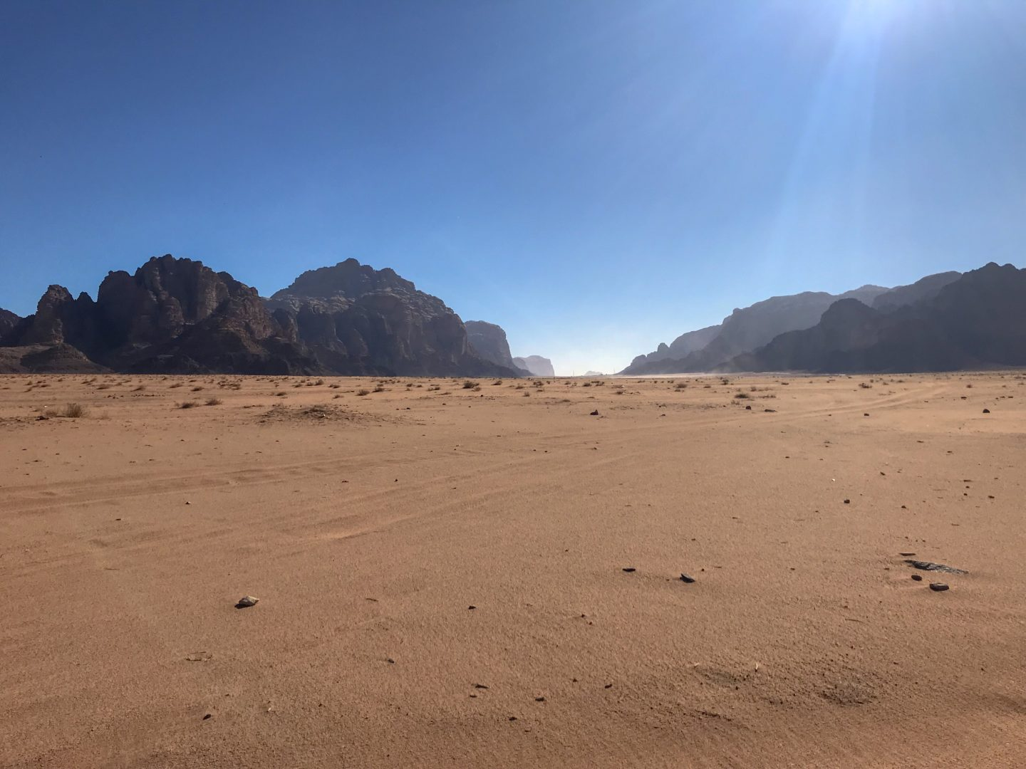 Vast expanse of desert and sandstone topography - Jordan Adventures Part 4 - Wadi Rum