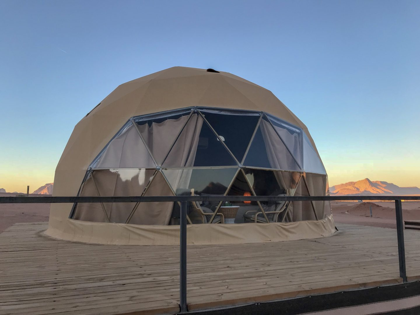 How to have an epic family holiday - Big domed tent structure