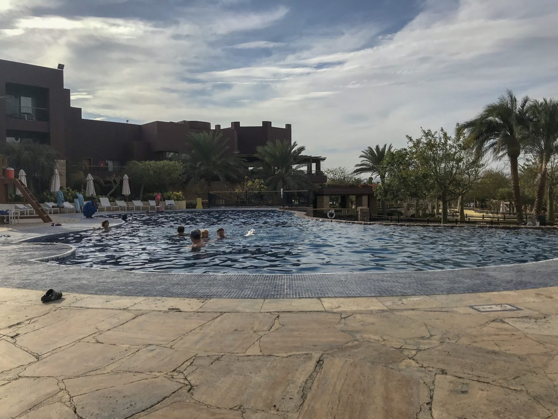 Jordan Adventures Part 5 - Aqaba and the Red Sea - the heated pool at the Movenpick, Aqaba