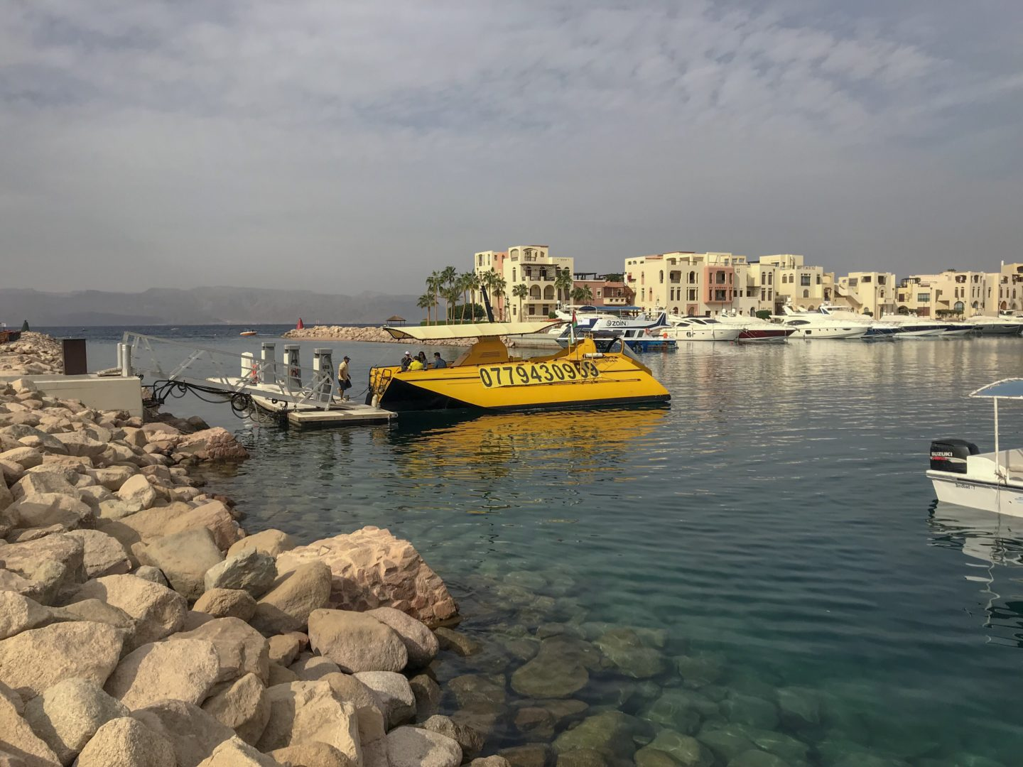 Jordan Itineraries - yellow submarine trip that we took