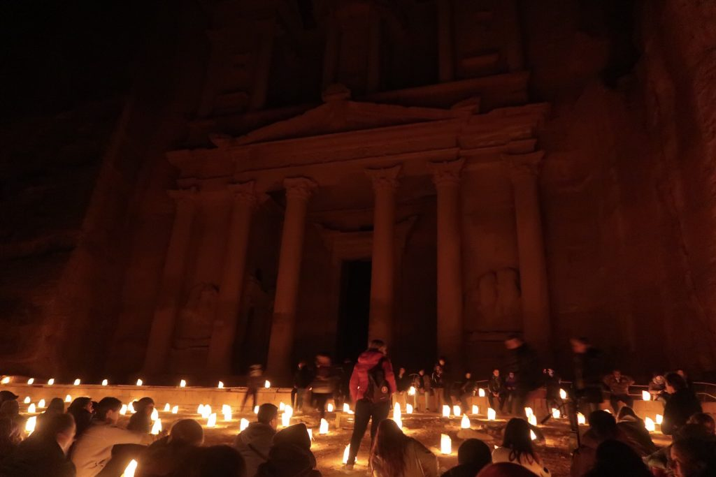 Jordan Itineraries - the Treasury at Petra by candlelight