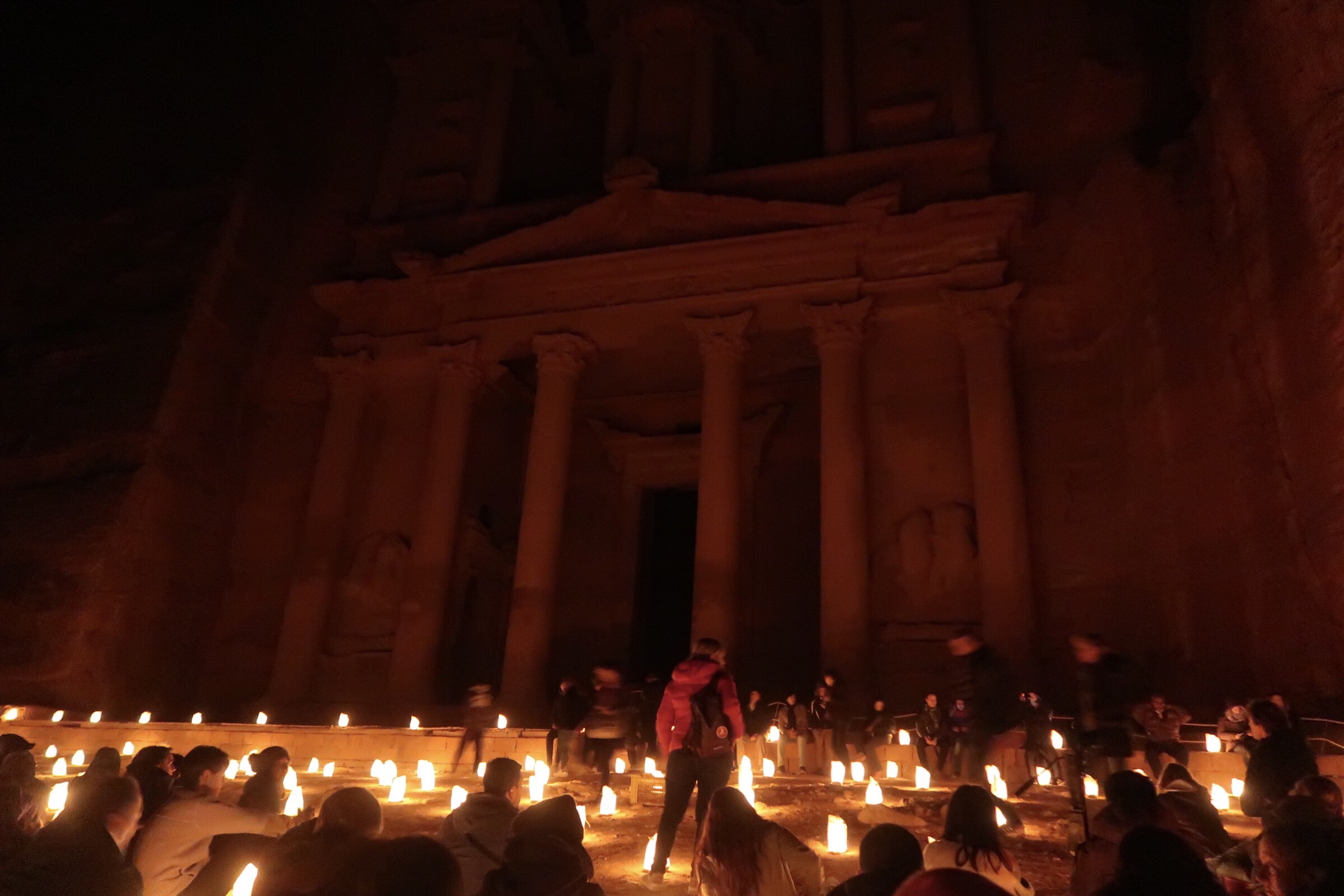 The Treasury lit up only be candle light