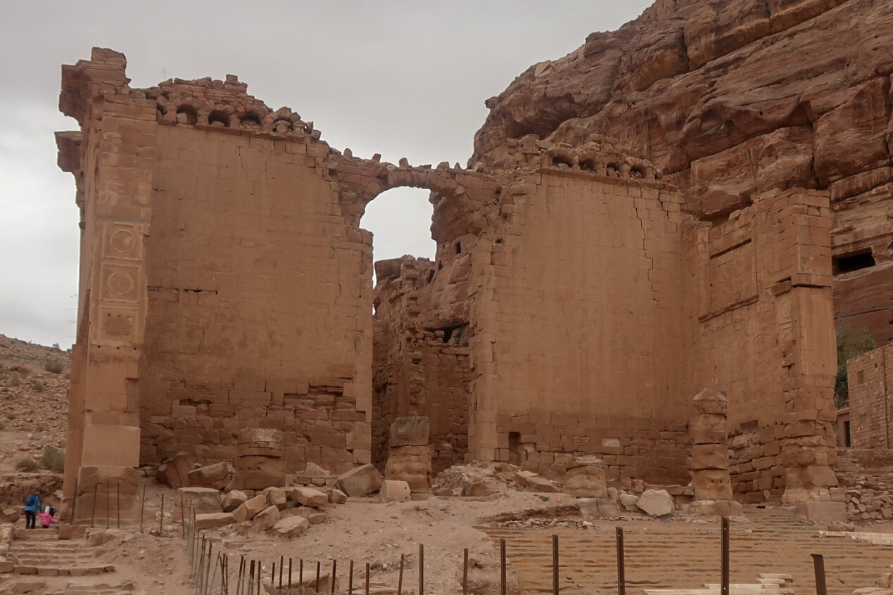 The ruins of a Nabatean Temple
