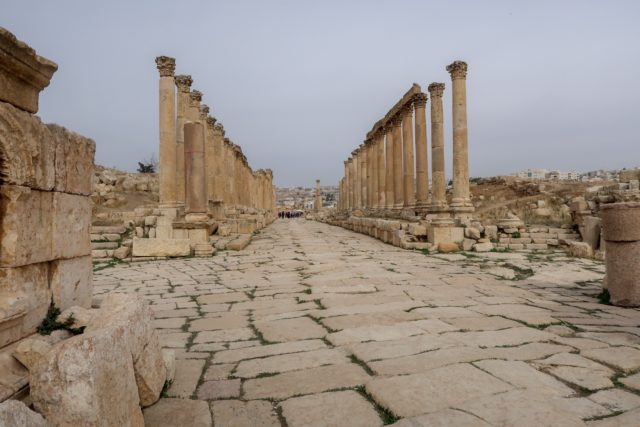 Jordan Adventures Part I - Amman. The Colonnade at Jerash is so impressive!