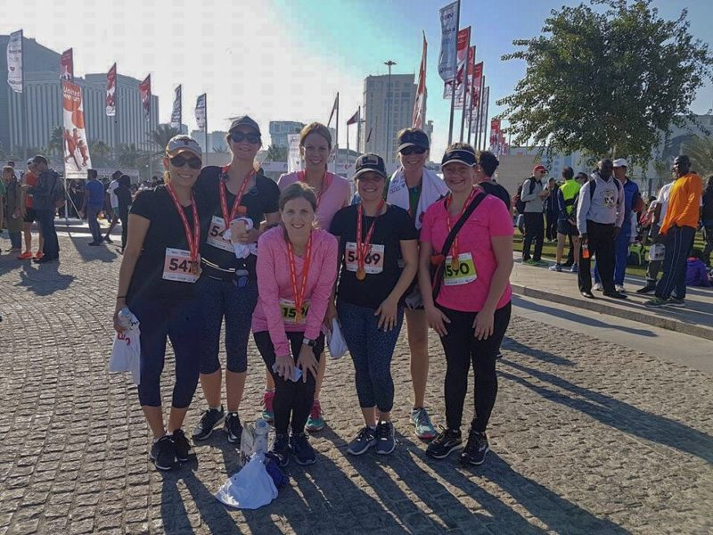 I gave up my career for this - Me and my Doha friends after the 10k, January 2018