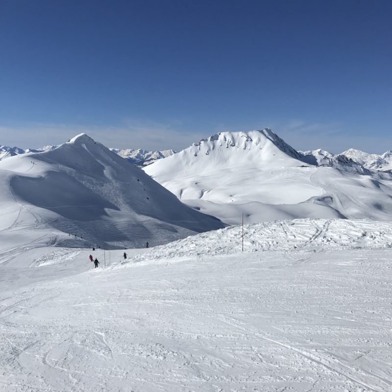 Best Family Ski Holiday - view of the French Alps from the top of a run