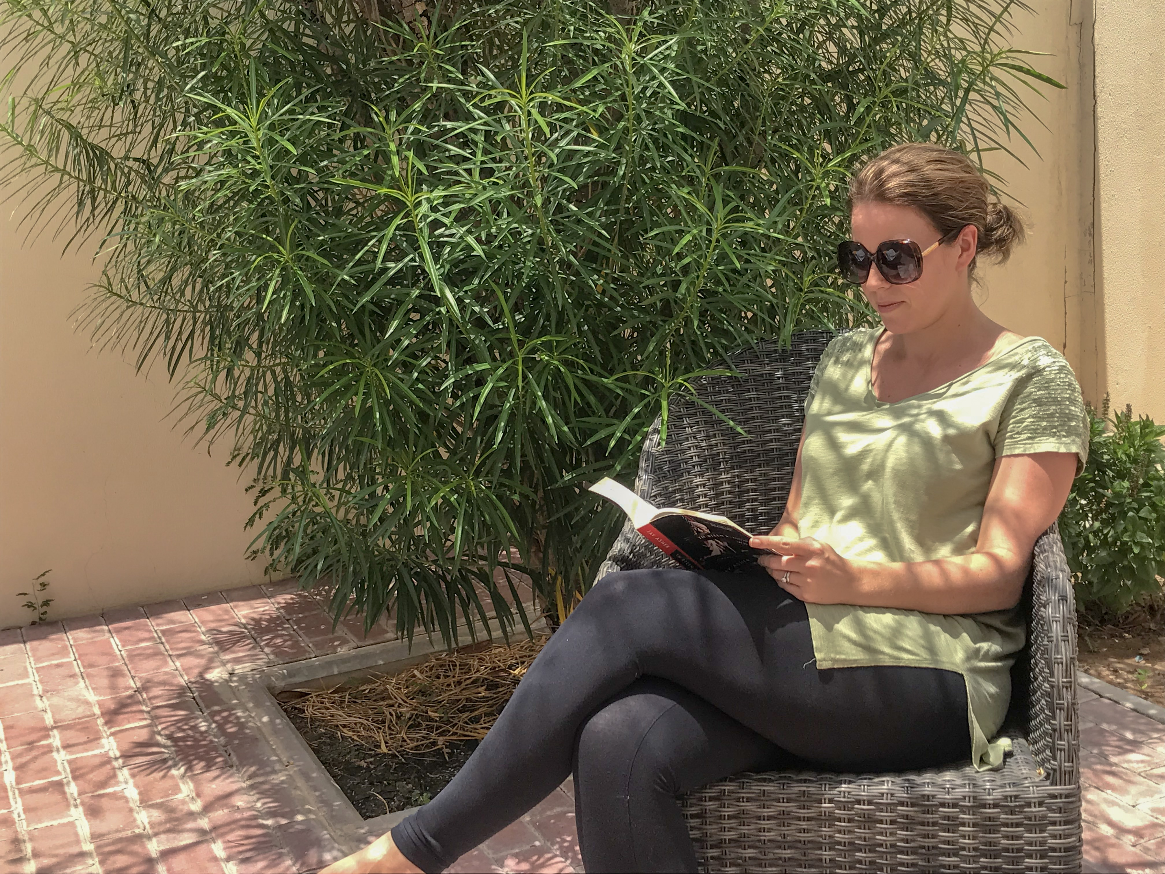 summer reading - my sat in the sun reading